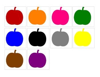 Colored Pumpkins Pocket Chart Activity