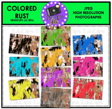 Colored Rust Photo Set {Educlips}