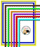 Colored Scallop borders clip art set of 9