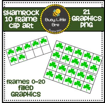 Colored Shamrock 10 Frames