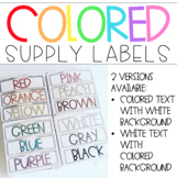 Colored Supply Labels for Sterilite Drawers