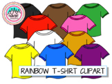Colorful/Rainbow T-Shirt Clipart -- includes white tshirt