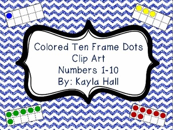 Colored Ten Frame Dots Clip Art