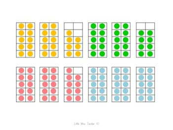 Colored Ten Frames (Numbers 1-30)