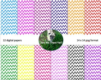 Colored Thick Wave Digital Paper