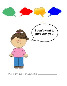 Color Thoughts Perspective Taking Activity (Social Skills)
