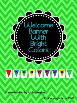 Colored Welcome Banner Bright
