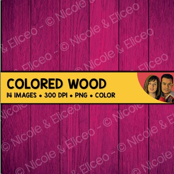 Digital Paper - Colored Wood Backgrounds