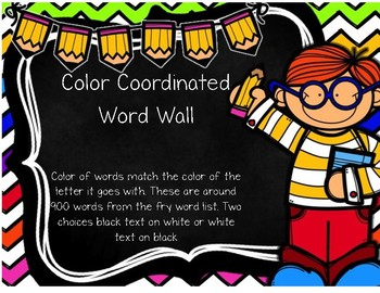 Colored Word Wall