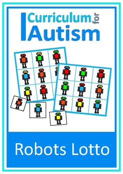 Colors Lotto Game Robots Social Skills Turn Taking Autism Special Education