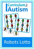 Colors Robot Lotto Turn Taking Game Autism Special Education