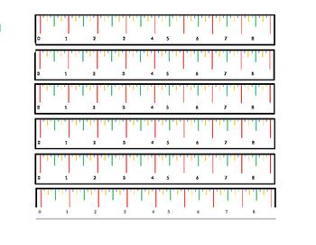 "FREEBIE ruler 1/8"" colored marks"