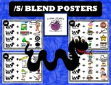 Colored /s/ BLEND Posters  - Speech Therapy Fun!!!