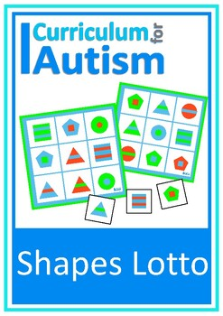 Color Shapes Lotto Game Autism Special Education Turn Taking Social Skills