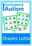 Shapes Lotto Turn Taking Game Autism Social Skills