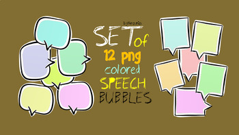 Colored speech bubbles