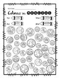 Coloreo de monedas
