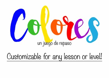 Colores - A review game for any level or subject
