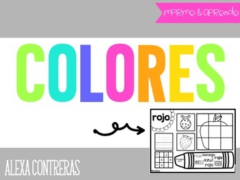 Colores {Colors Practice Pages in Spanish}