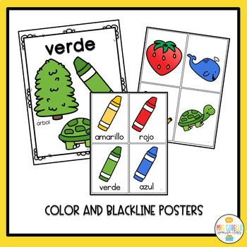 Colores Colors in Spanish Activity Pack