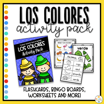 Colors in Spanish Activity Pack - Colores
