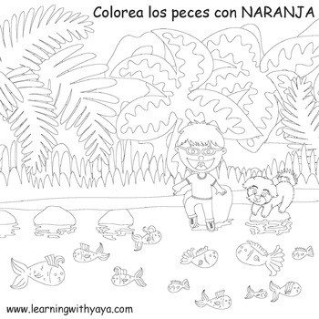Colores-Song and coloring book (SPANISH)