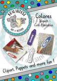 Colores (Spanish) - Clipart, printables, puppets and more!