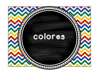 Colores - Spanish Colors