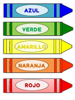 Colores - Tarjetas de Vocabulario