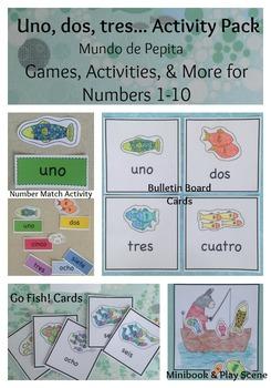 Colores y Números SUPER ACTIVITY PACK Printable Spanish Resources