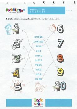 Colores y números (vídeo, canción, worksheet y picture dictionary)