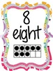 Colorful 0-20 Number Posters with Words and Ten Frames (comes in 2 sizes)