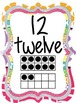 Colorful 0-20 Number Posters with Words and Ten Frames (co