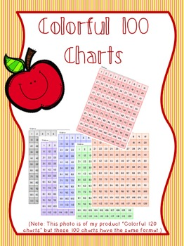 Colorful 100 Charts