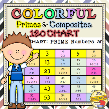 Colorful Number Charts To  With Prime Numbers By Mseducator  Tpt