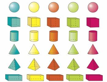 Colorful 3D Shape Clip Art