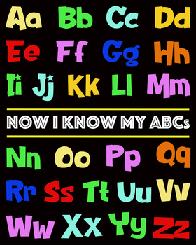 Colorful ABC Poster