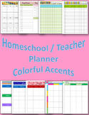 Colorful Accented Teacher Planner or Homeschool Planner