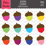 Colorful Acorn Clipart, Fall Clipart, Acorn Clip Art, Commercial Use - Fall147