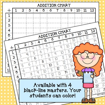 Colorful Addition Charts (4&4)*