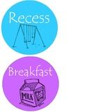 Colorful Agenda Circles