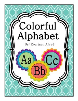 Colorful Alphabet Chart with Mini Letters