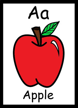 Cute and Colorful Alphabet Flash Cards