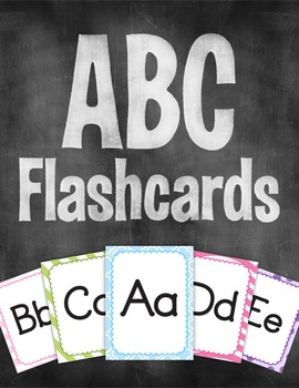 Colorful Alphabet Flash Cards - ABC's