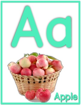 Colorful Alphabet Letter Posters with REAL photos (Beginning Sounds)