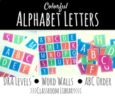 Colorful Alphabet Letters - A to Z - DRA Letters, Word Wal
