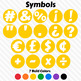 Colorful Alphabet ~ Letters, Numbers, Symbols ~ Bold Colors