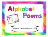 Colorful Alphabet Poems - letter/sound association