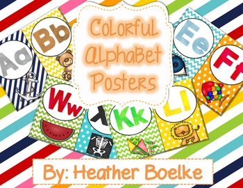 Colorful Alphabet Posters