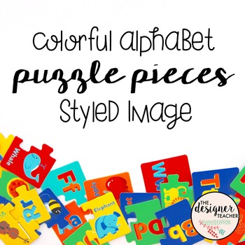 Styled Image: Colorful Alphabet Puzzle Pieces